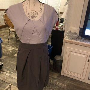 Forever 21 business color block midi dress L